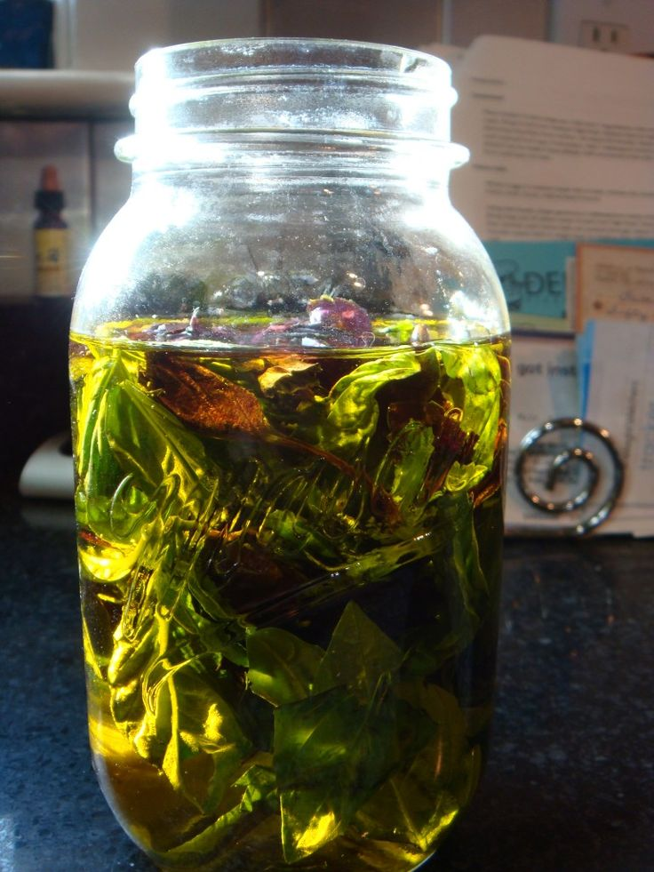 Make basil and garlic infused olive oil. If using garlic store in fridge after steeping and straining.
