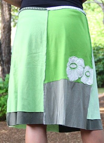 jupiter girl skirt made from recycled t-shirts