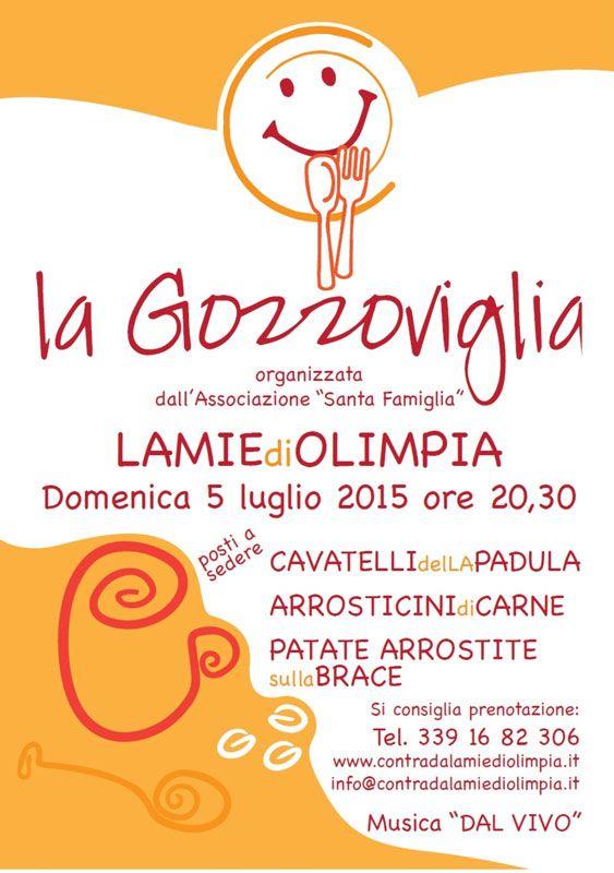 La #Gozzoviglia, domenica 05 luglio 2015, U Jazzile, Lamie di Olimpia a #Locorotondo (Ba)