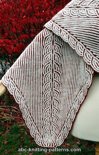 Ravelry: Sheaves of Barley Brioche Stole pattern by Elaine Phillips