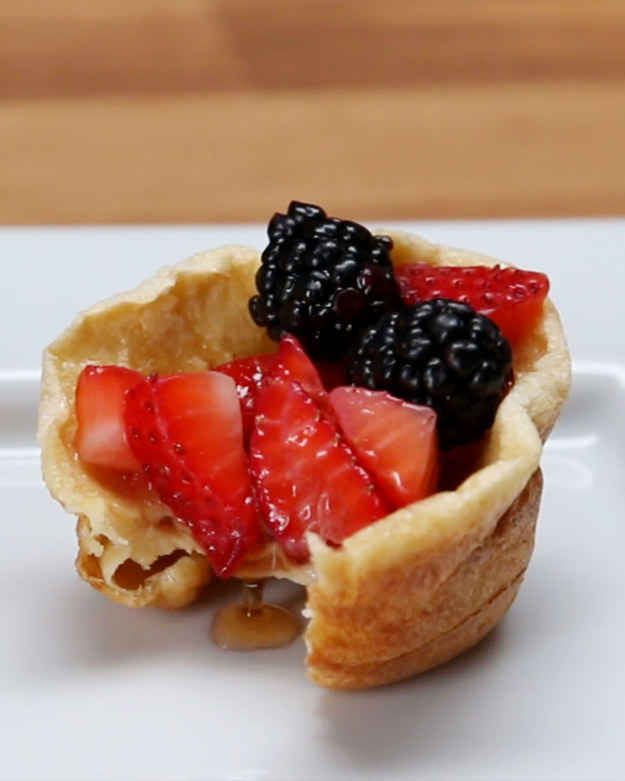 Pancake Cups SWANK NOTE: use olive oil in place of butter.  100% fat free milk only