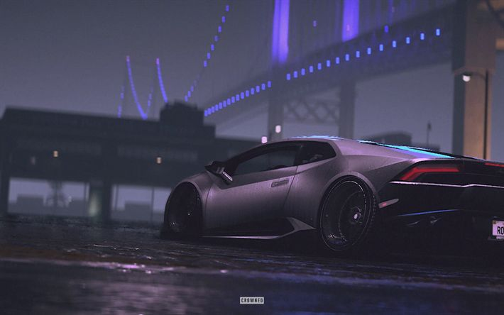 Download wallpapers Need For Speed Payback, Lamborghini Huracan, 2017 games, NFSP, autosimulator, Need For Speed