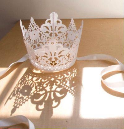 paper lace crown DIY