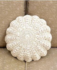 Crochet Pillow Natural