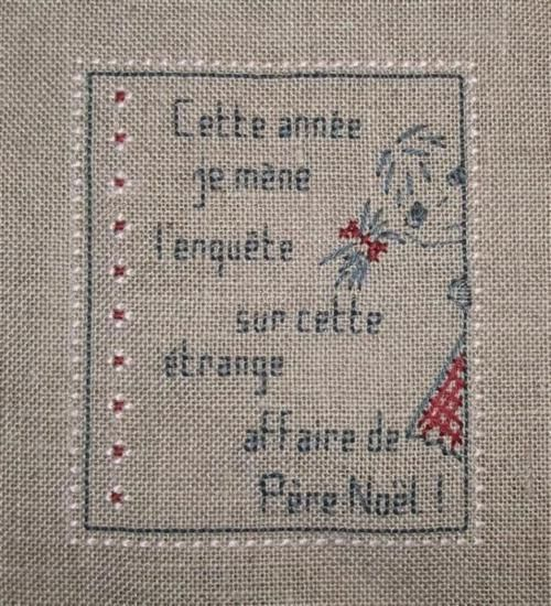 noël - christmas - enquête - point de croix - cross stitch - Blog : http://broderiemimie44.canalblog.com/