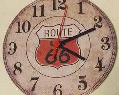 Relógio Parede 21cm tema Route 66