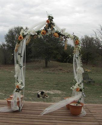 Best 25 Wedding Arch Tulle Ideas On Pinterest
