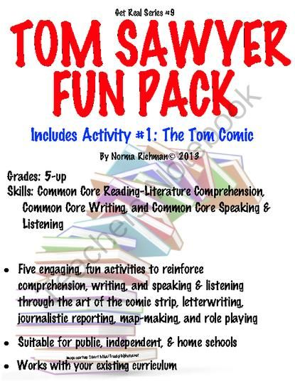 16 best teaching tom sawyer images on pinterest adventure fairy tom sawyer fun pack lesson plan w5 engaging common core literature activities fandeluxe Choice Image