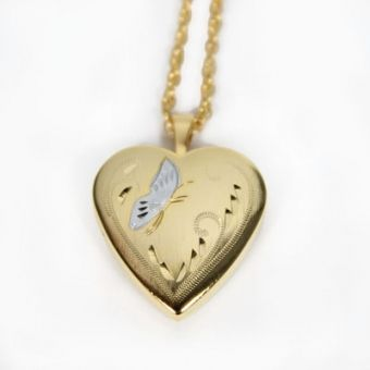 Gold Plated Butterfly Locket Necklace #MothersDay