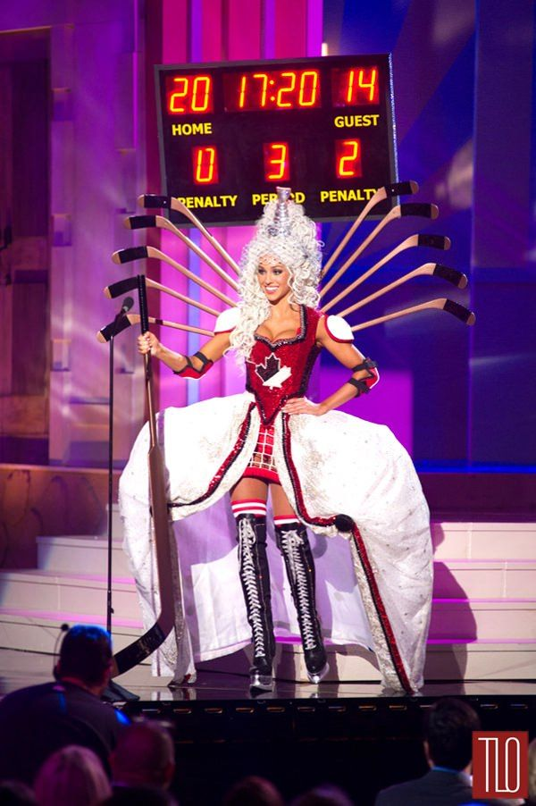 -Miss-Universe-National-Costume-Miss-Canada This is the costume that she wore. Too Funny!