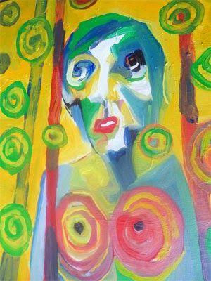 Hati seribu bulan, 50 x 60cm, akrilik on kanvas, 2014. ARTI SUGIARTI