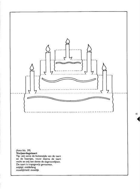 объемная открытка киригами торт схема каждого жанра