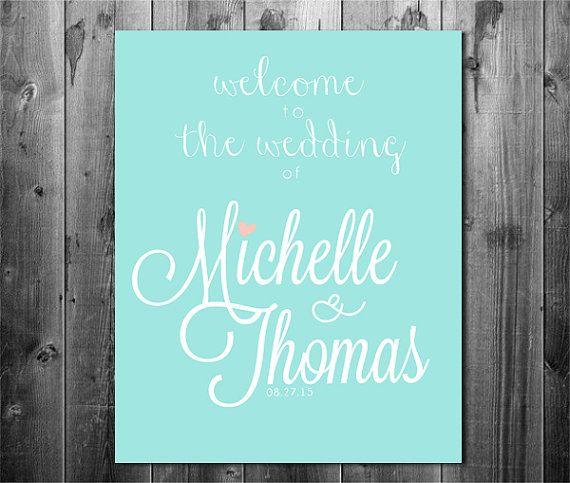 printable wedding signage, wedding welcome sign, beach theme wedding signage