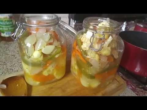 Escabeche... Verduras En Vinagre! - YouTube