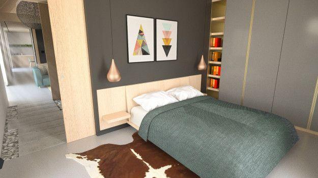 Návrh spálne - Interiér rodinného domu, Dubová pri Modre - Interiérový dizajn / Bedroom interior by Archilab