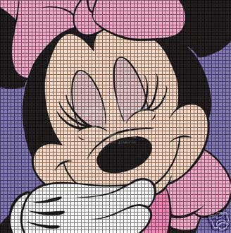Minnie Mouse Crochet Afghan Patterns | home crochet graph patterns cartoons mickey minnie mouse minnie mouse ...