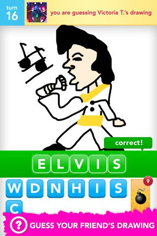 Draw Something - no one draws like this, but it's still a lot of fun!