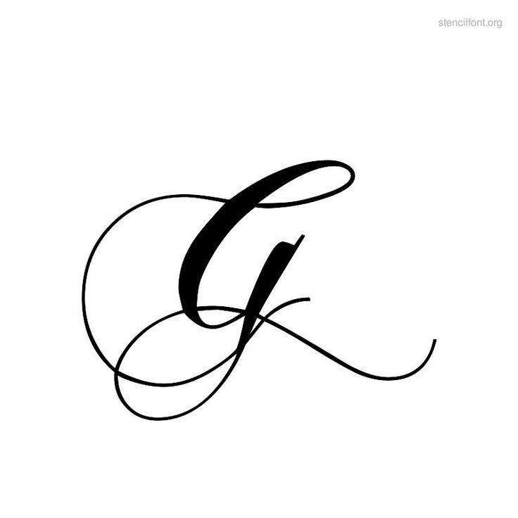 letter g fonts for tattoos | Letter G Stencil