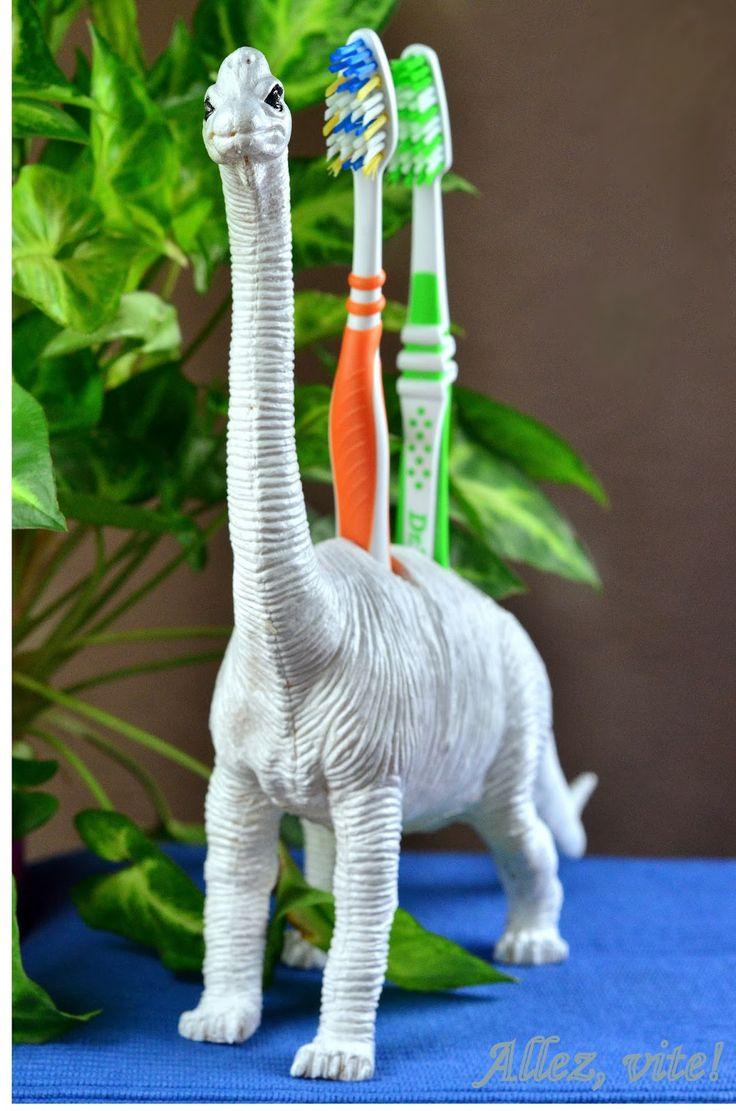 Elegant DIY Projekt Aus einem Dino einen Zahnb rstenhalter machen Die Kinder werden ausflippen ue
