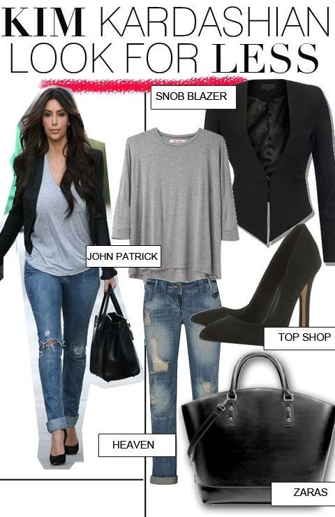 Get Kim Kardashian's Casual Look For Less | FashionBased | Fashion Based