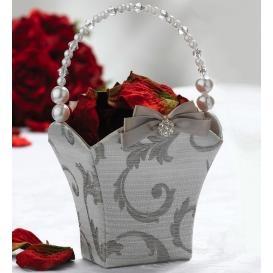 Classy flower girl basket.