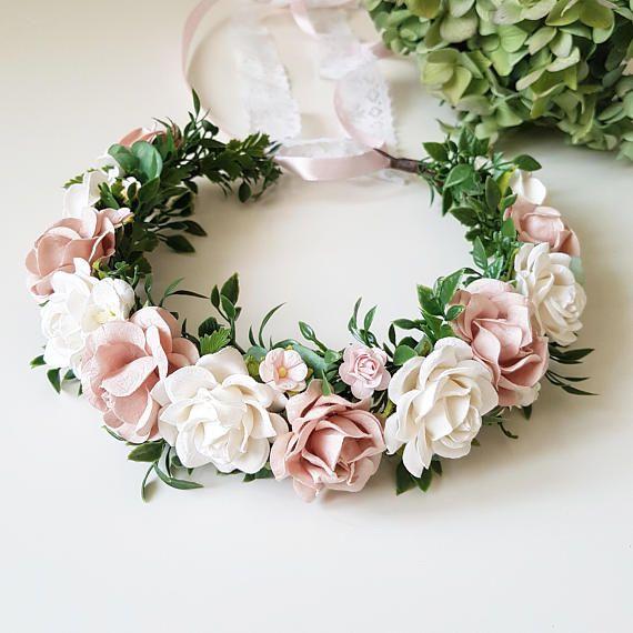Blush Pink Flower Crown Maternity Flower Crown Blush Pink Etsy Pink Flower Crown Maternity Flower Crown Flower Crown Wedding