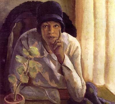 """Meditation,"" 1931, is one of Malvin Gray Johnson's works on display at the NCCU Art Museum. (Image courtesy of NCCU Art Museum)"