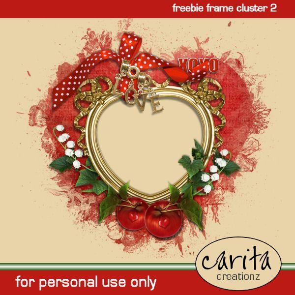 Carita Creationz: Freebie Frame Cluster 2