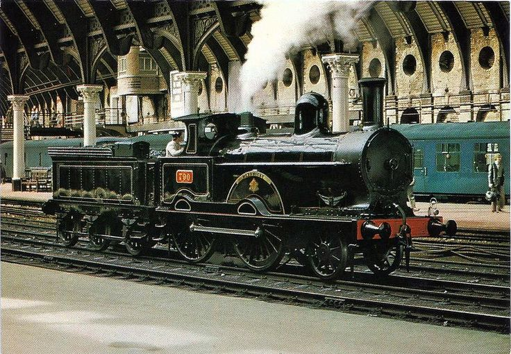 London and North Western Railway. Designed by F. W. Webb and built at Crewe in 1873. This loco took part in the 1895 Railway Race to the North.