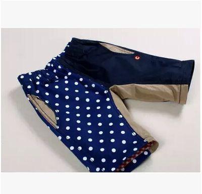 Корейская детская секция одежда 2015 лето мужчины ребенок ребенок CC асимметричный личности случайные хлопка упругие талии шорты