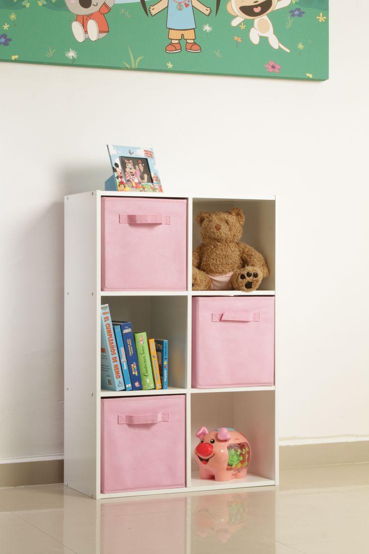 El organizador de melamina de 6 cubos crea el espacio for Muebles infantiles modernos
