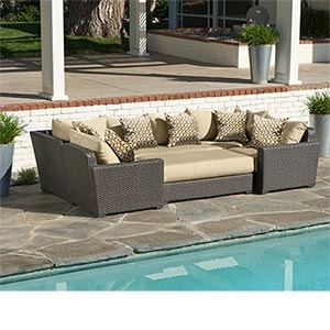 Endura 6 Piece Deep Seating Modular Sectional Create Multiple  Configurations Including An Oversized Outdoor Daybed