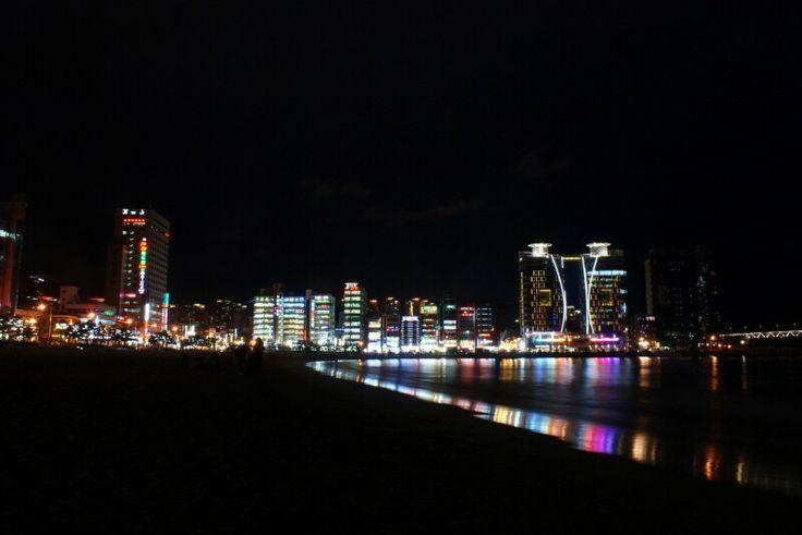 A night view of the haeundea