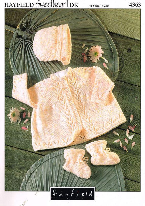Hayfield 4363 baby matinee coat vintage knitting by Ellisadine, £1.00