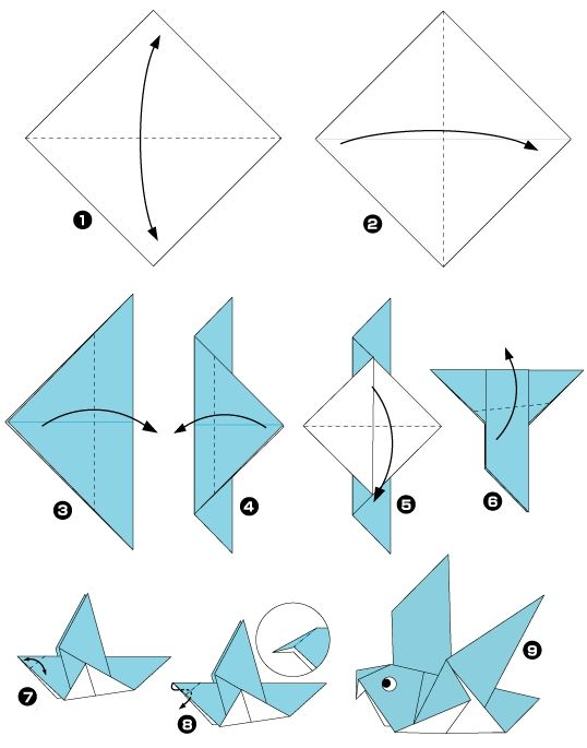 How to make an origami pigeon.