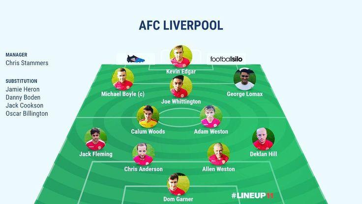 AFC Liverpool team to play Runcorn Linnets