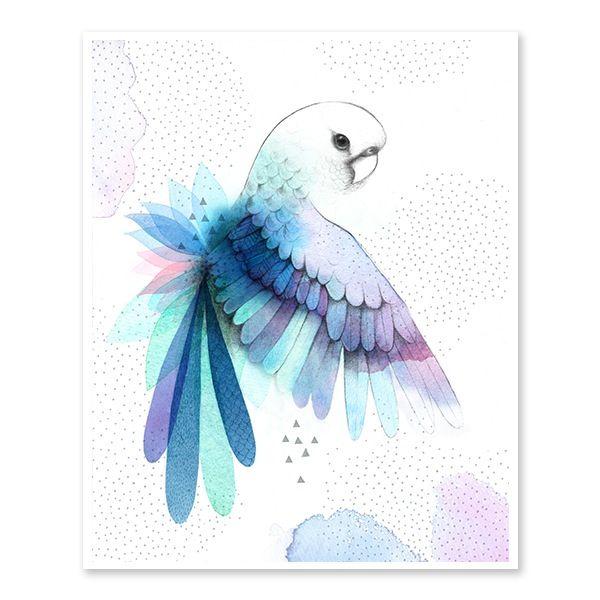 Image of Pretty Parrot Art Print