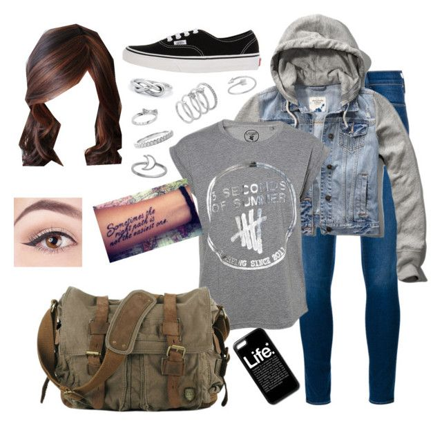 """MDBB K Cameron School on Wednesday Outfit"" by stilinskiismybatman ❤ liked on Polyvore featuring Frame, Abercrombie & Fitch, Vans, Kate Spade, Midsummer Star and Vince Camuto"