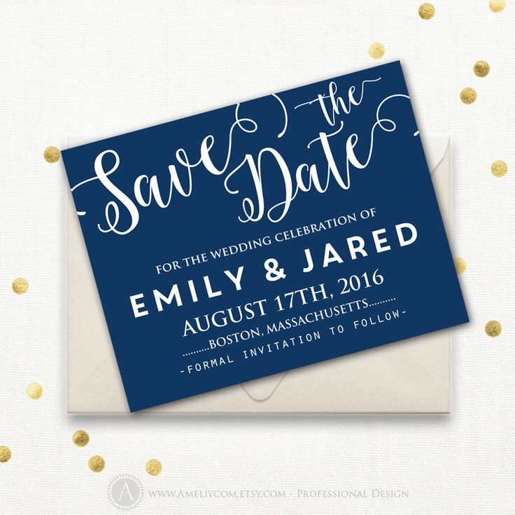 The  Best Navy Save The Dates Ideas On   Save The