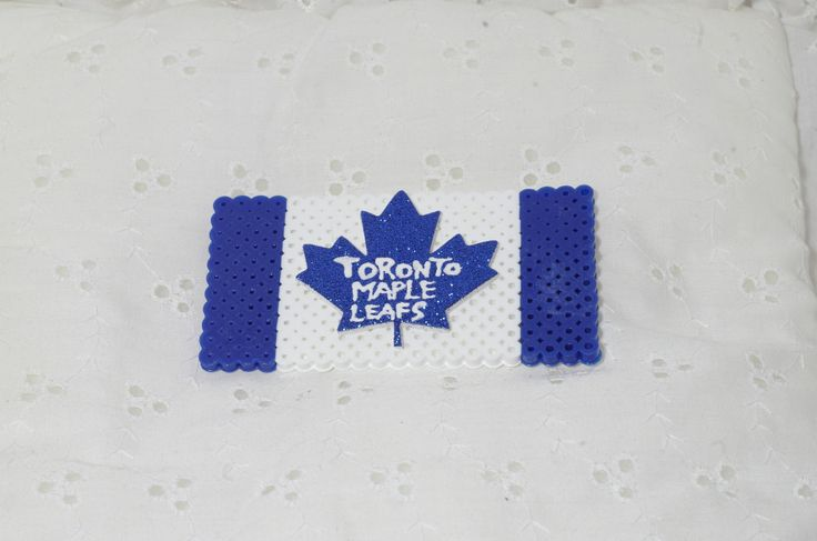 Toronto maple leaf flag perler bead magnet