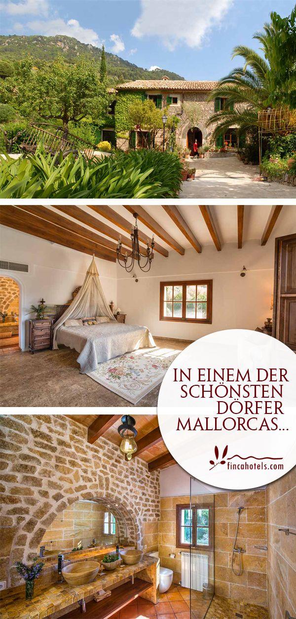 Romantische Gassen, überall mit Blumen geschmückt, dazu charmante Geschäfte und Restaurants und ein atemberaubendes Bergpanorama... Ein Urlaub hier auf Mallorca lässt echtes Mallorcafeeling erwachen. Sa Vall Valldemossa, Hotel auf Mallorca.