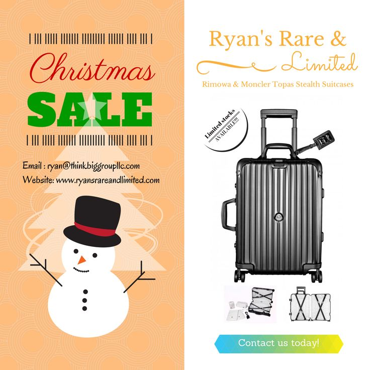 Christmas time is fast approaching. Make Rimowa x Moncler's best carry on luggage be your travel buddy this holiday season! #Christmas #Sale #Rimowa #Moncler #Travel http://www.ryansrareandlimited.com/