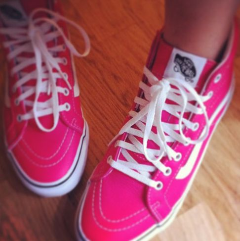 hot pink vans high top