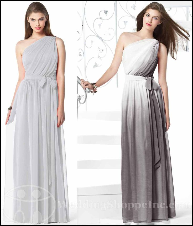 A Black and White Affair: Black and White Dessy Bridesmaid Dress Styles...Dessy Bridesmaid Dresses: Dessy 2831  (Shown in Frost and Twilight Ombré)