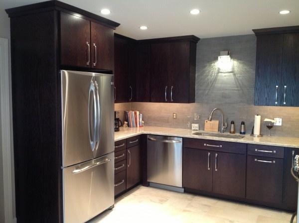 Kitchen Cabinets Espresso Finish beautiful #norcraft rohe door oak in #espresso #finish   kitchen