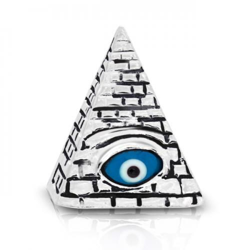 Sterling Silver Masonic Evil Eye Pendant