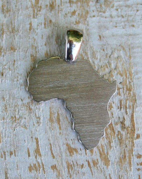 Solid small Africa continent pendant 20mm by ZivDesigns on Etsy, $17.50