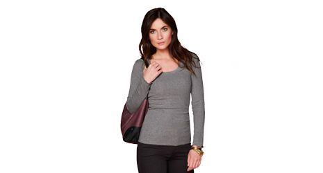 Dantel Yakalı Tişört - http://www.tchibo.com.tr/discount-women