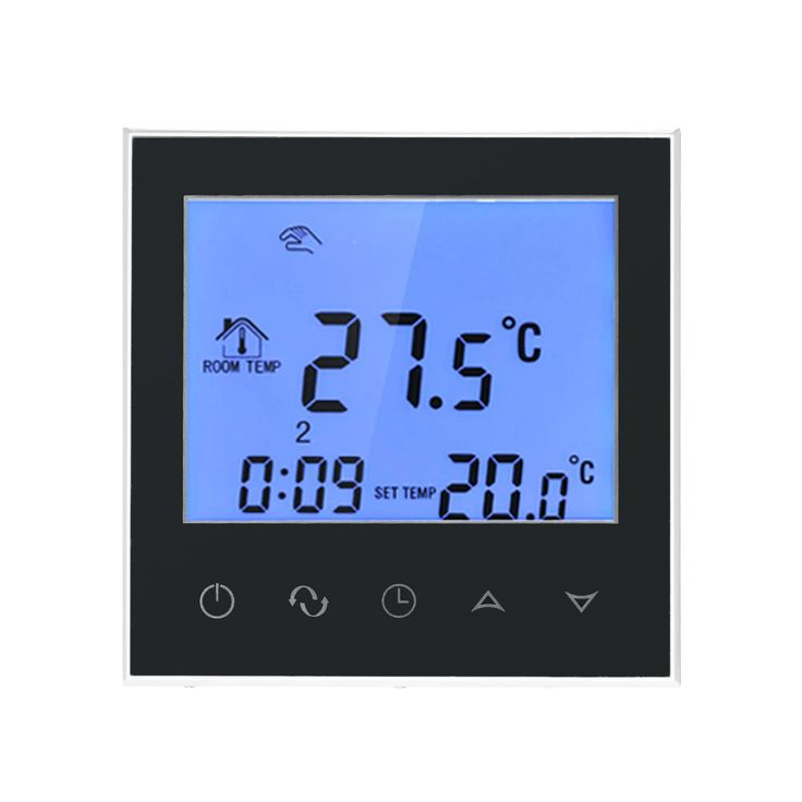 Electric Heating Thermostat with Touchscreen Smart WIFI Sales Online black - Tomtop.com