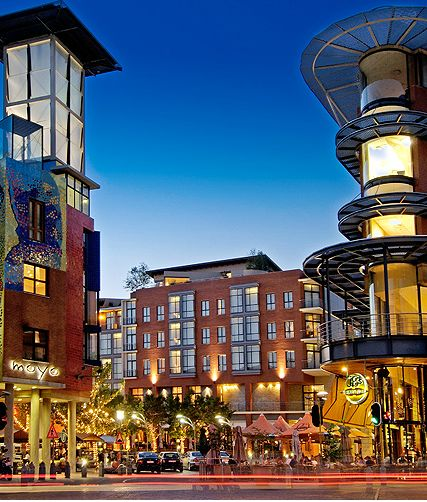 When in Johannesburg... discover high street living in the magic that comes alive at night in the upscale quarter of Melrose Arch.